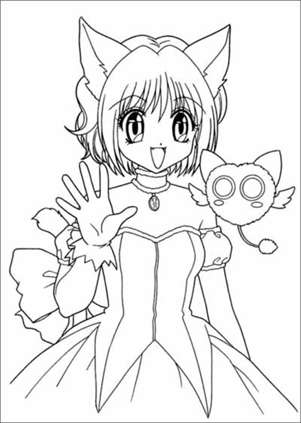 Free tokyo mew mew power coloring pages for Coloring pages of mew